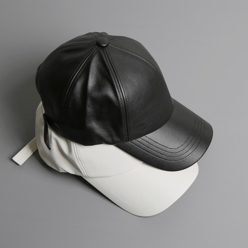 leather ball cap