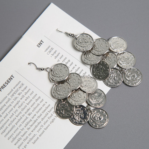 coin drop earring
