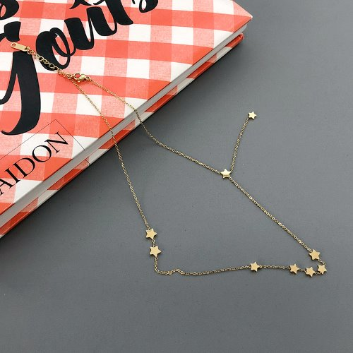 star layered necklace