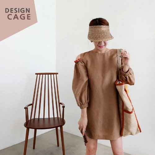 *designer line* color frill OPS *brown*