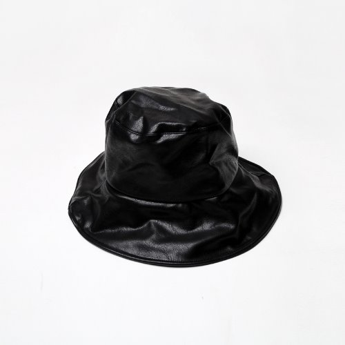 pole leather bucket hat