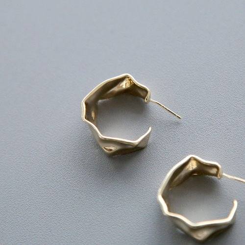 wave ring earring