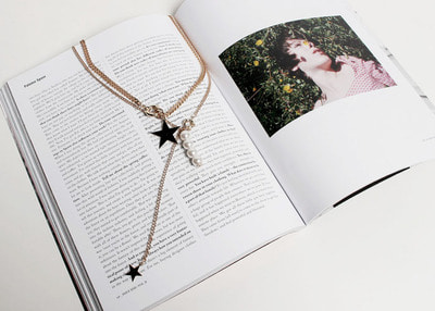 star pearl layered necklace