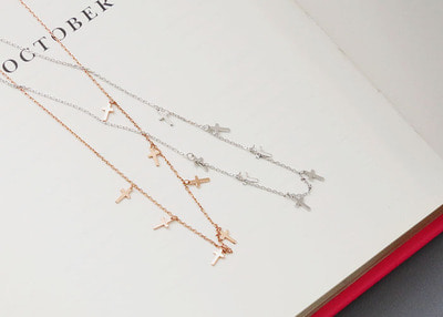N cross necklace
