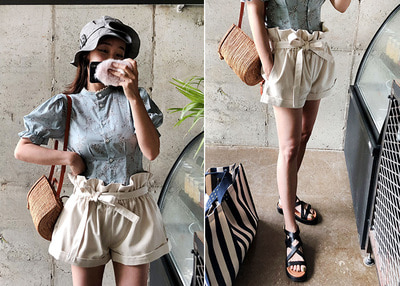 *품절*sale*designer line* high short strap PT *cream*