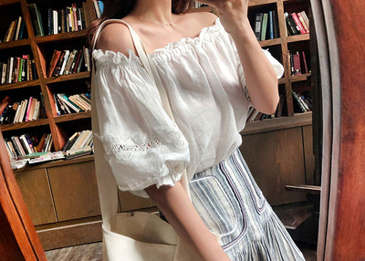 *MD추천* miss frill off shoulder BL
