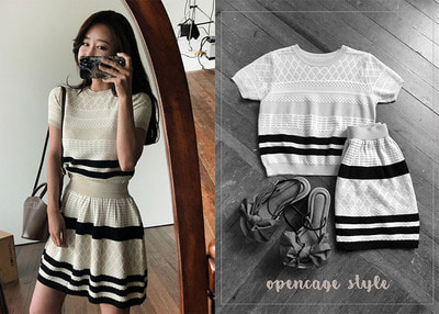*MD추천* dia knit two piece