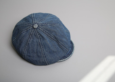 denim button hat
