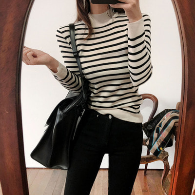 recover stripe knit