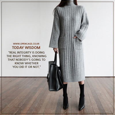 *MD추천* turtleneck long OPS *grey*