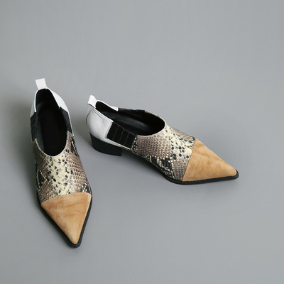 slim python shoes