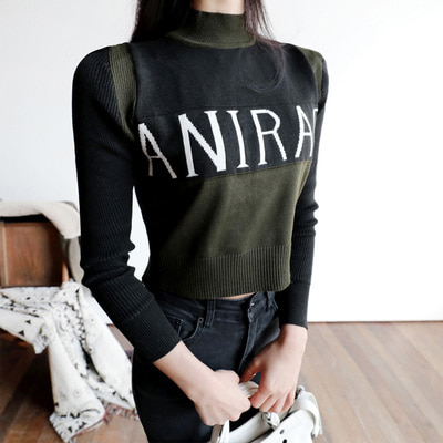 spelling crop knit