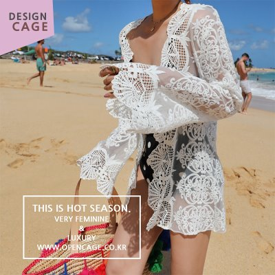 *designer line* short lace robe