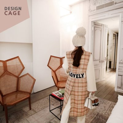 *designer line* lovely check vest