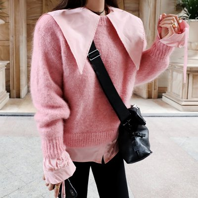 very pink knit