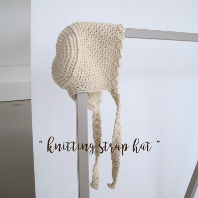 knitting strap hat