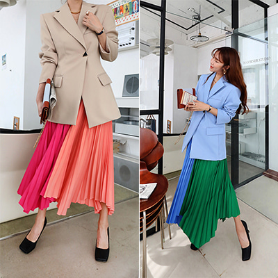 two tone pleats SK